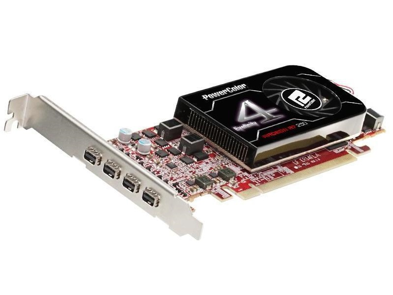 Radeon R7 250 quad display eye infinity card with 4x mini DP output